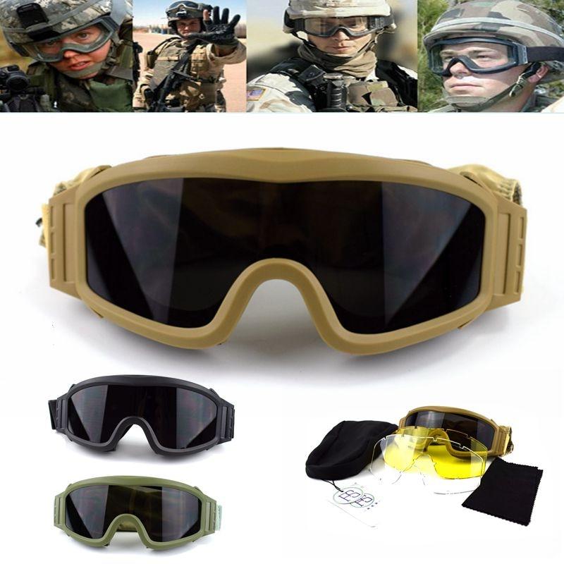 b5f6d900d Comprar Caça Tiro Googles Óculos De Segurança De Combate Do Exército  militar Tático Paintball Airsoft Googles Óculos de Esportes Ao Ar Livre Dos  Homens ...