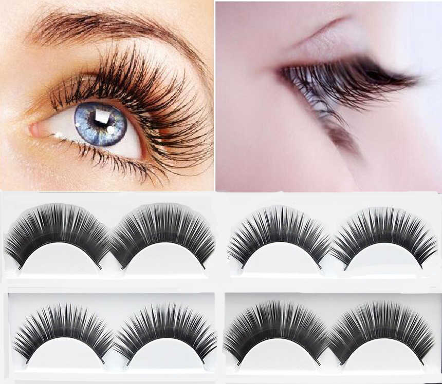 ab651e00997 1 pairs natural thick false eyelashes fake lashes long makeup 3d mink lashes  extension eyelash mink