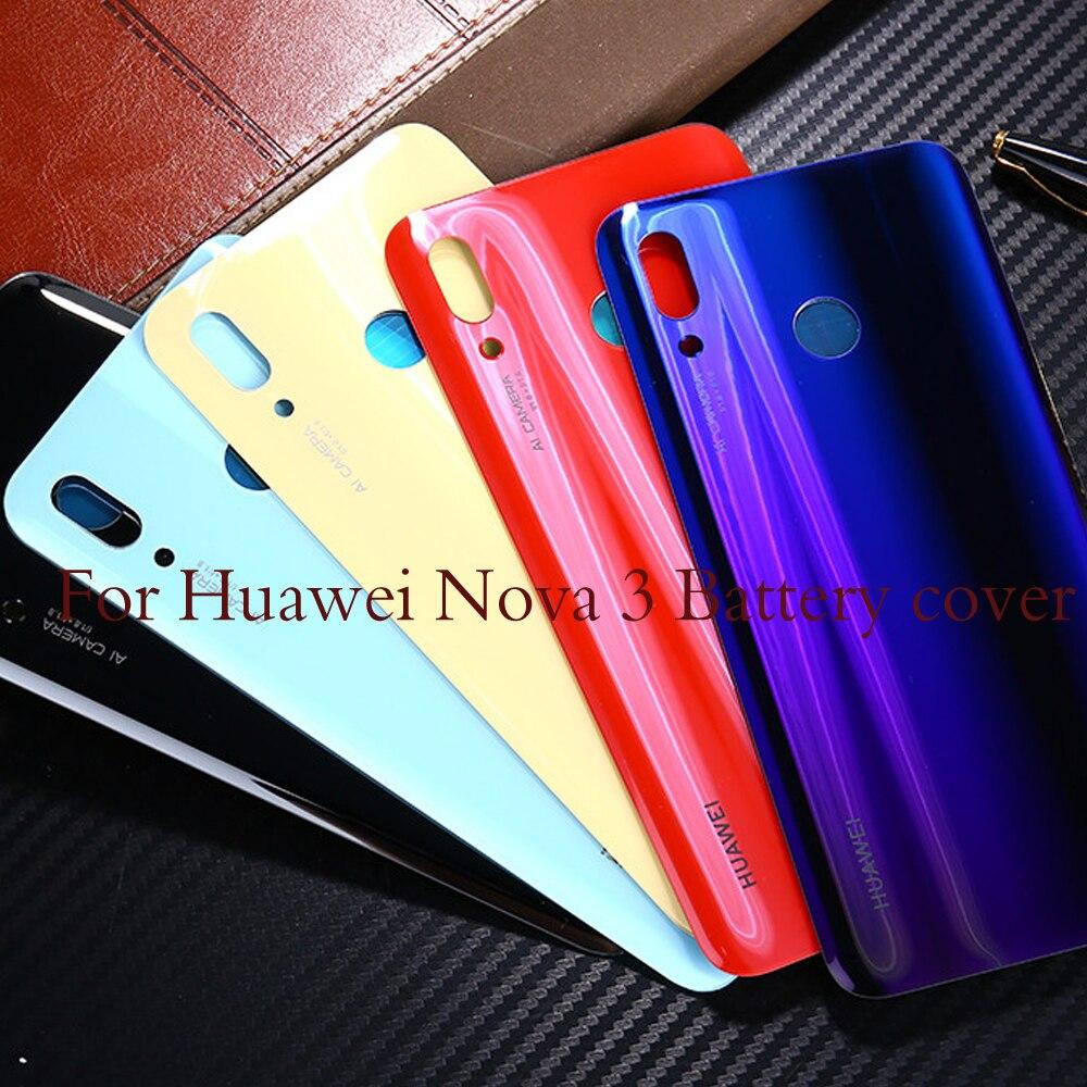 Nova3  Housing For Huawei Nova 3 Glass Battery Cover Door Smart Phone Back Cover Replacement Repair Part