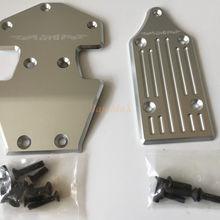 GTB спереди+ задняя защитная пластина шасси proteciton панцири для Losi 5ive T 1/5 rc автомобиль газа 2pcs