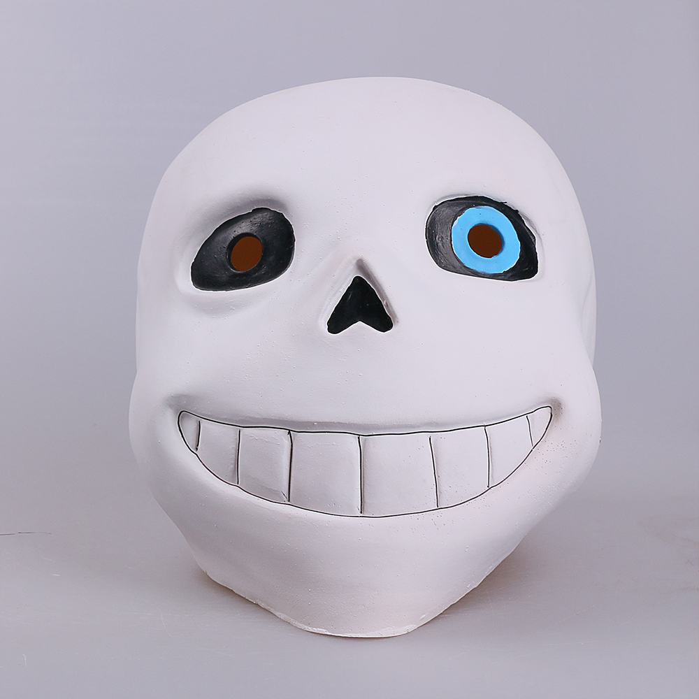 Full head Undertale Sans Latex Masks Cosplay Funny White Helmets Shores Of Halloween Party Fancy Christmas Balls (3)