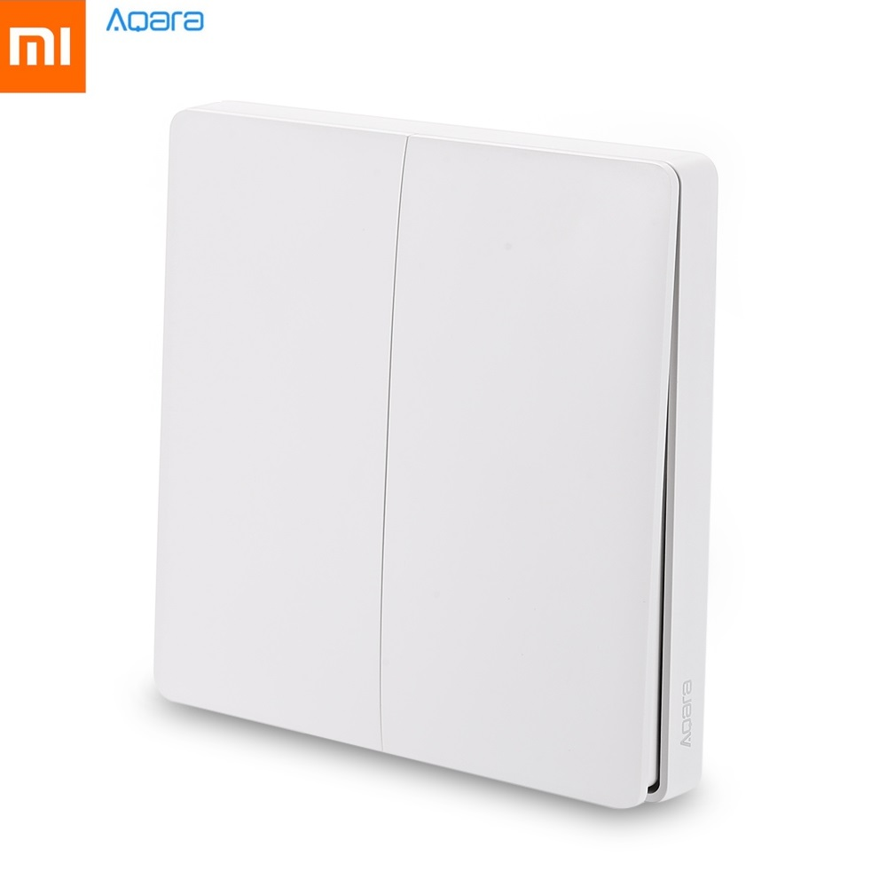 Original Xiaomi Aqara Smart Light Wall Switch 2.4GHz Wireless Version Double Key ZigBee Remote Control by Mi Home Smartphone App цены