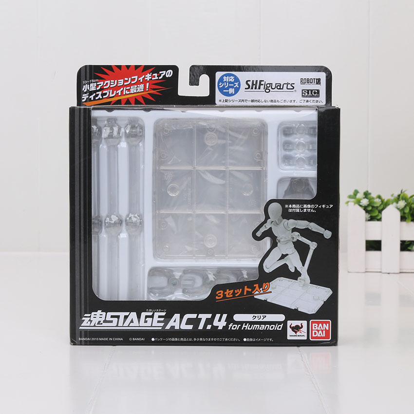 3pcs/set S.H.Figuarts Stage Act.4 for Humanoid Clear Body Kun Chan Grey Black Color Ver. Figure Stent Stand Set Bracket Toy original new lcd display and touch screen digitizer with frame for htc one m9 plus m9pt m9pw test ok free tracking no