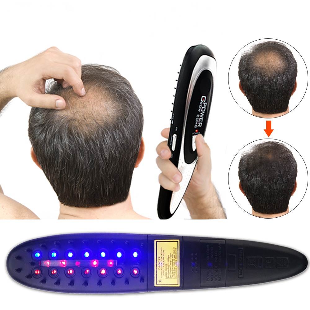 Professional  LED Laser  Comb Hair Growth Loss Regrowth Hair Brush Treatment Electric Infrared Stimulator Hair Styling Tools