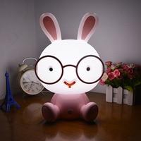 Cute Rabbit/ Panda/Puppy Touch LED Table Lamp Plug USB Energy Saving Night Light 3 Modes Dimming Light Kids Birthday Gift