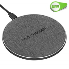 Universal 10W Qi Wireless Charger Metal Fast Charging Pad for Iphone X 8 Plus Samsung S10 S9 S8 Xiaomi Mi 9