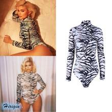 Summer Jumpsuits 2019 New Women Casual Long Sleeveless Turtleneck Slim Stretch Striped Print