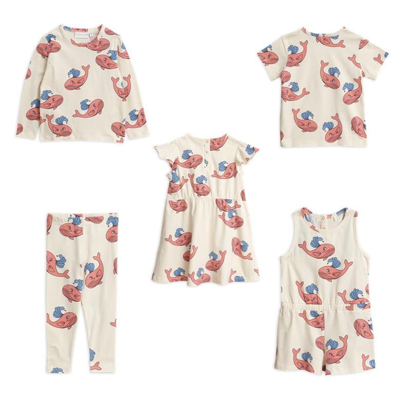 BOBOZONE 2019SS whale pink t-shirt leggings dress playsuit for kids boys baby girls topsBOBOZONE 2019SS whale pink t-shirt leggings dress playsuit for kids boys baby girls tops