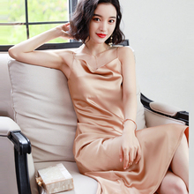 Fashion Women Solid Spaghetti Straps Backless Sleeveless Sexy Dresses Bottom Length Ladies Casual Dress Ne'w Summer Party Dress