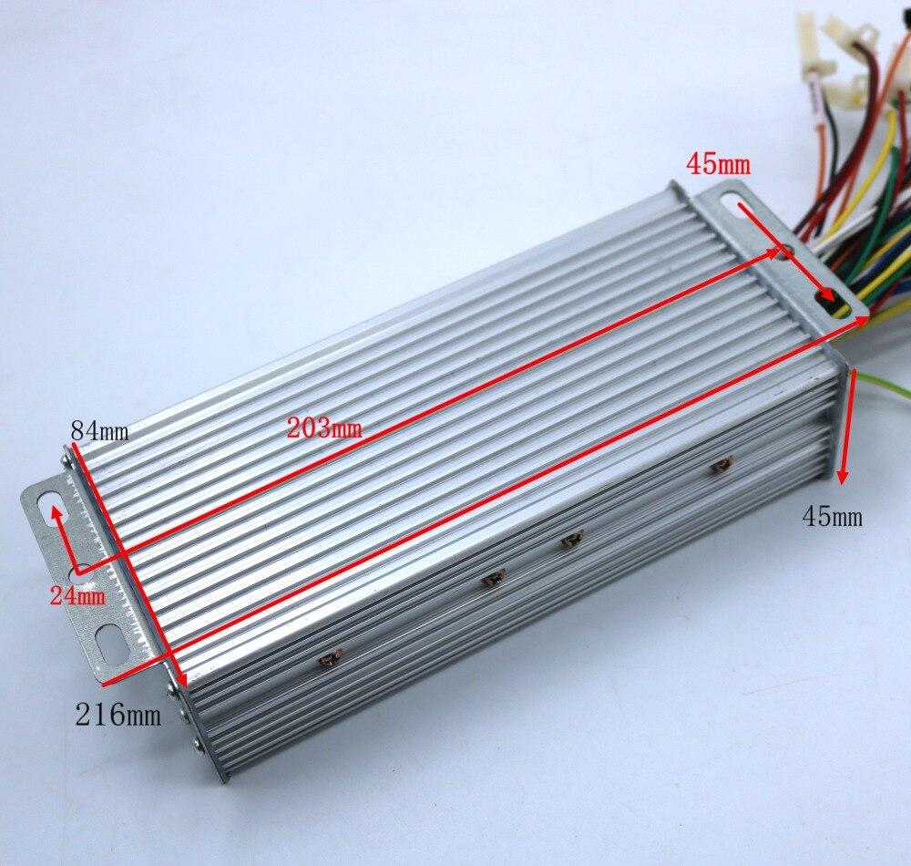 GREENTIME 15 Mosfet 48-84 V 1500 W 45 Amax de modo Dual Sensor/Sensor de Sensorless sin escobillas controlador de Motor DC bicicleta eléctrica de conductor - 6