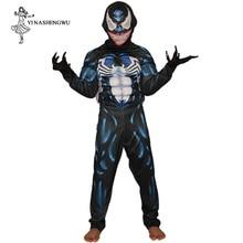 Костюм Venom для косплея персонажа из фильма Веном; Карнавальный костюм супергероя на Хэллоуин; карнавальный костюм; Детские костюмы для Хэллоуина