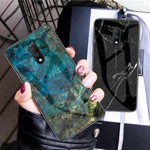 Oneplus 7 Pro Marble Glass Case Shell Back Cover Luxury Scratchproof Glass Soft Edge Phone Case for Oneplus 7 Capa Coque Funda