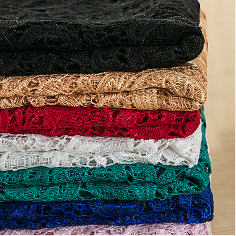 Embroidery Hollow Out Lace Fabric DIY Female Shirt Dress Cloth and Curtain width 1.2m*length 1m R146