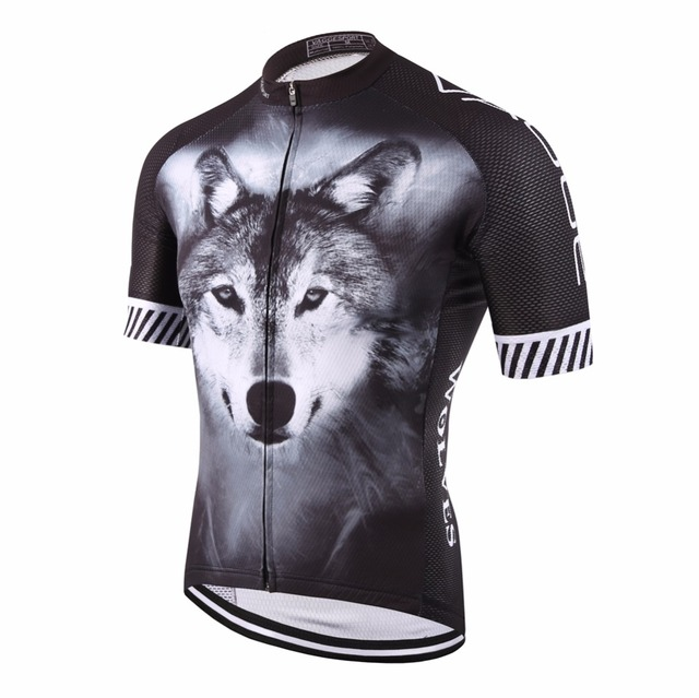 2017 wolf pro cyclist jersey/sports original summer men bike clothing/novelty unisex plus size 3D printed cycling clothes
