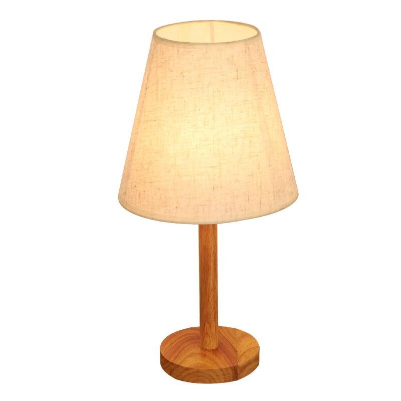 Деревянный Настольный светильник Nordic спальня теплый Рабочий стол обучения настольная лампа украшения простой деревянной Art