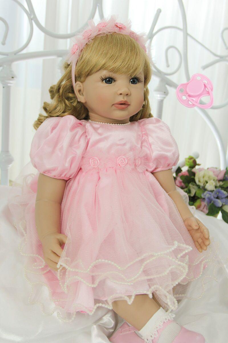 60 см силикона Reborn Baby Doll виниловые игрушки принцесса для малышей как живой Bebe для девочек Bonecas лимитированная коллекция подарок на день рожде...