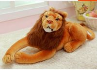 lovely plush lion toys stuffed simulation lying lion doll birthday gift about 50cm 0557