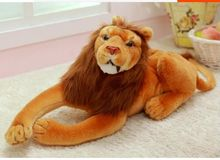 lovely plush lion toys stuffed simulation lying lion doll birthday gift about 50cm