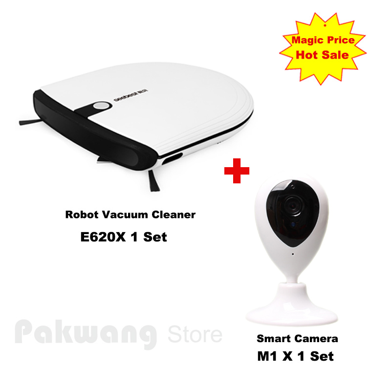 Smart Camera And E620 Slim Robot vacuum cleaner Z-type organized cleaning route 800 PA Household vacuum cleaner new smart monitor and a325 automatic robot vacuum cleaner robot aspiraodr