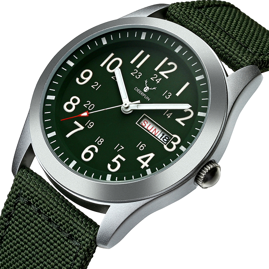DEERFUN Sports Watches Men Luxury Brand Army Military Men Watches Clock Male Quartz Watch Relogio Masculino Horloges Mannen Saat