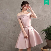 2017 New Pink Graduation Dress Short Women Elegant Formal Gown A Line Back Lace Up Cheap