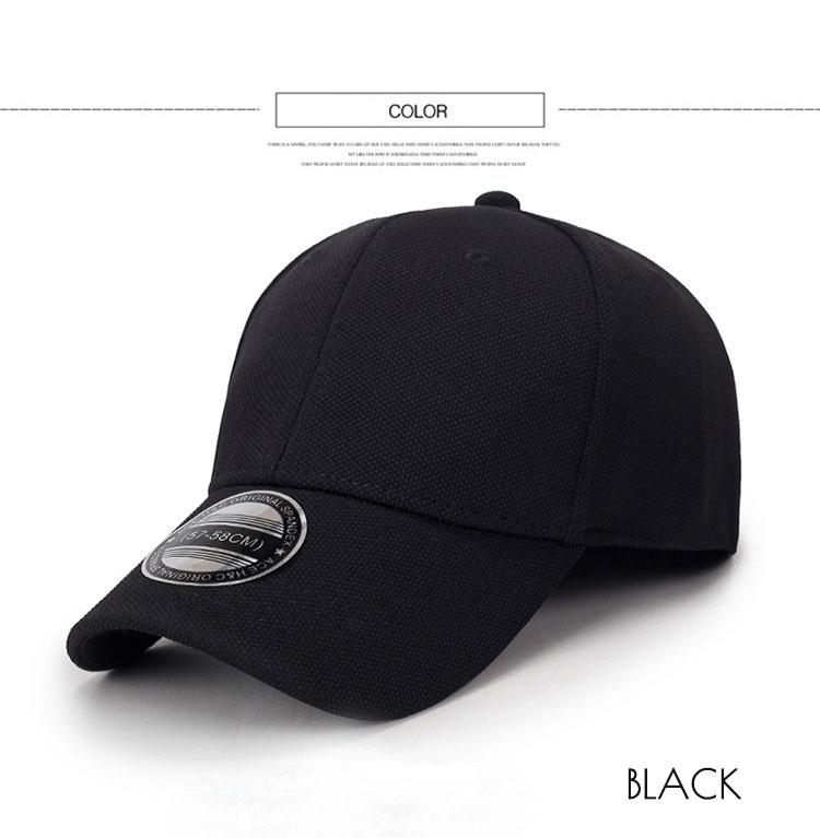 144aea50 Black Baseball Cap Men Snapback Hats Caps Men Flexfit Fitted Closed Full Cap  Women Gorras Bone Male Trucker Hat Casquette gorras para hombre
