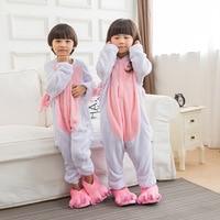New Arrival Autumn Winter Warm Pink Unicorn Children Flannel Animal Sleepwear Onesie Pajamas Funny Pyjamas Pijamas