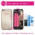high quality For iphone 5 5G Like 7 Style 7mini 5S Like 7 Style Full Housing Cover Assembly with Flex Cable + Tools