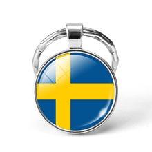 Mais novo De Metal De Futebol da Copa Do Mundo Chaveiro Síria/Suécia/Suíça/Arábia Saudita Bandeira Nacional Cabochon De Vidro Chaveiro