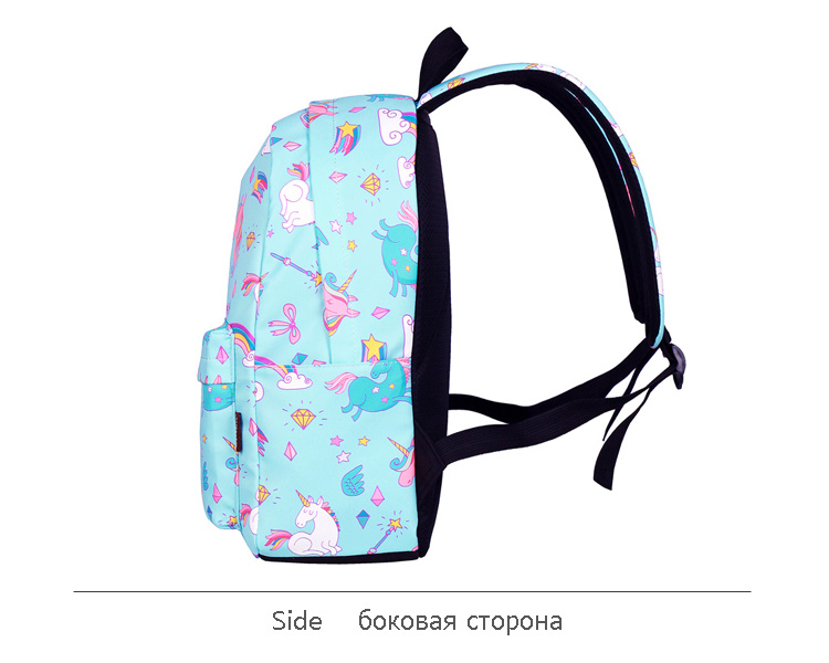 WINNER School Backpack Cartoon Rainbow Unicorn Design Water Repellent Backpack For Teenager Girls School Bags Mochila (7)
