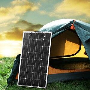 Image 2 - Anaka 100W 12V esnek monokristal silikon güneş panelleri güneş pili şarj için ev/RV/açık panel güneş çin 200W