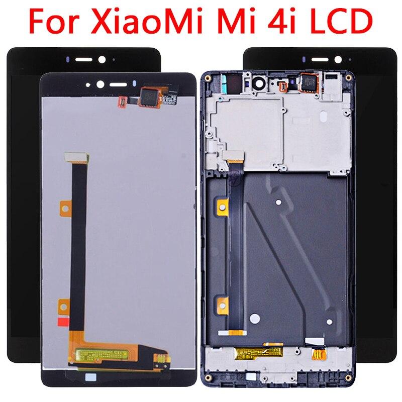 Para pantalla LCD Xiaomi 4i pantalla táctil Original probada de 5,0 pulgadas con marco Mi 4i LCD pantalla digitalizador montaje