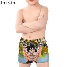 THIKIN Hot Anime Dragon Ball Printing Boys Swimwear Cool Cartoon Kids Baby Tunks Children Beach Swimsuit Summer Swimming Sbort