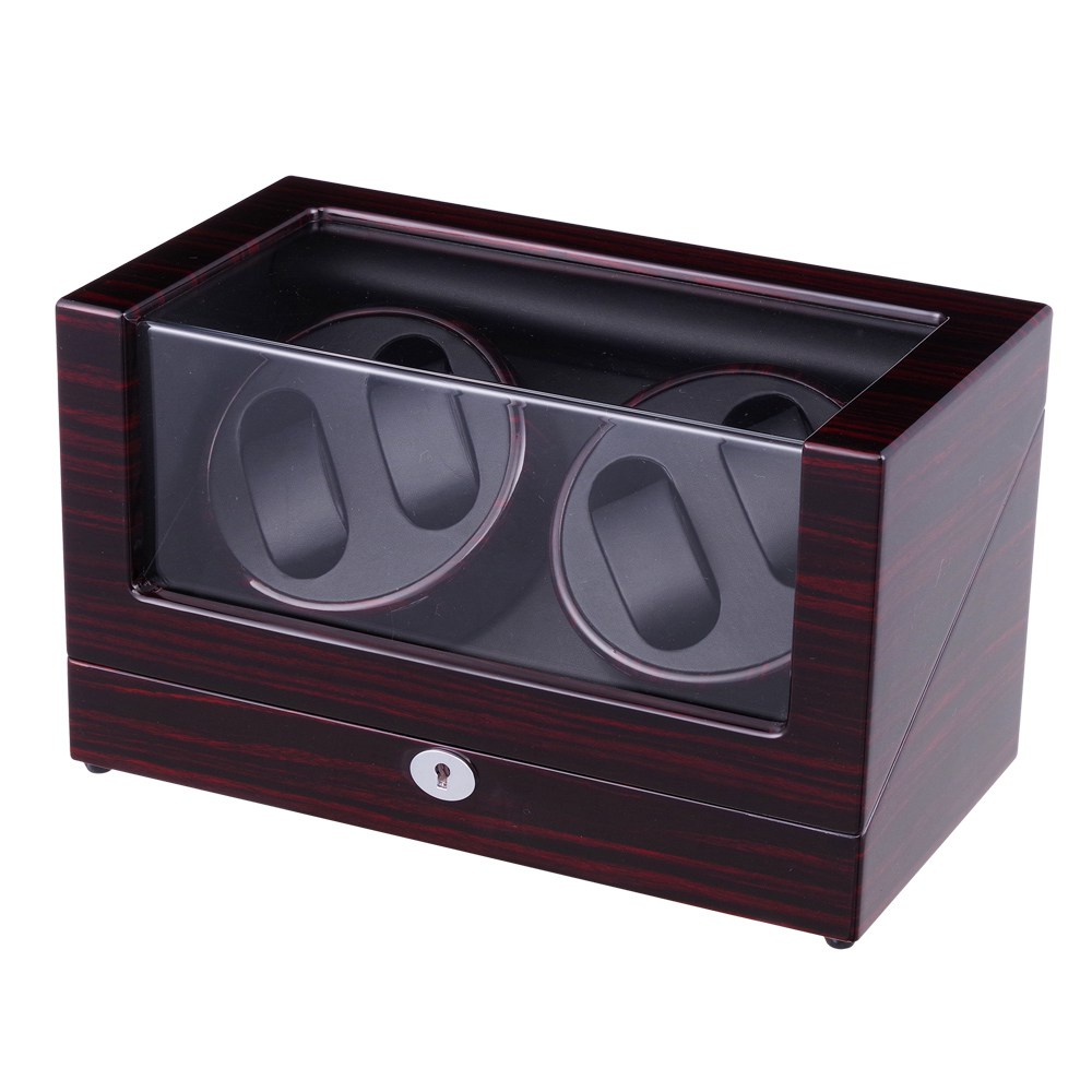 Watch Winder ,LT Wooden Automatic Rotation 4+0 Storage Case Display Box The new style(Outside is rose red black Inside is black) майка print bar satan is the new black