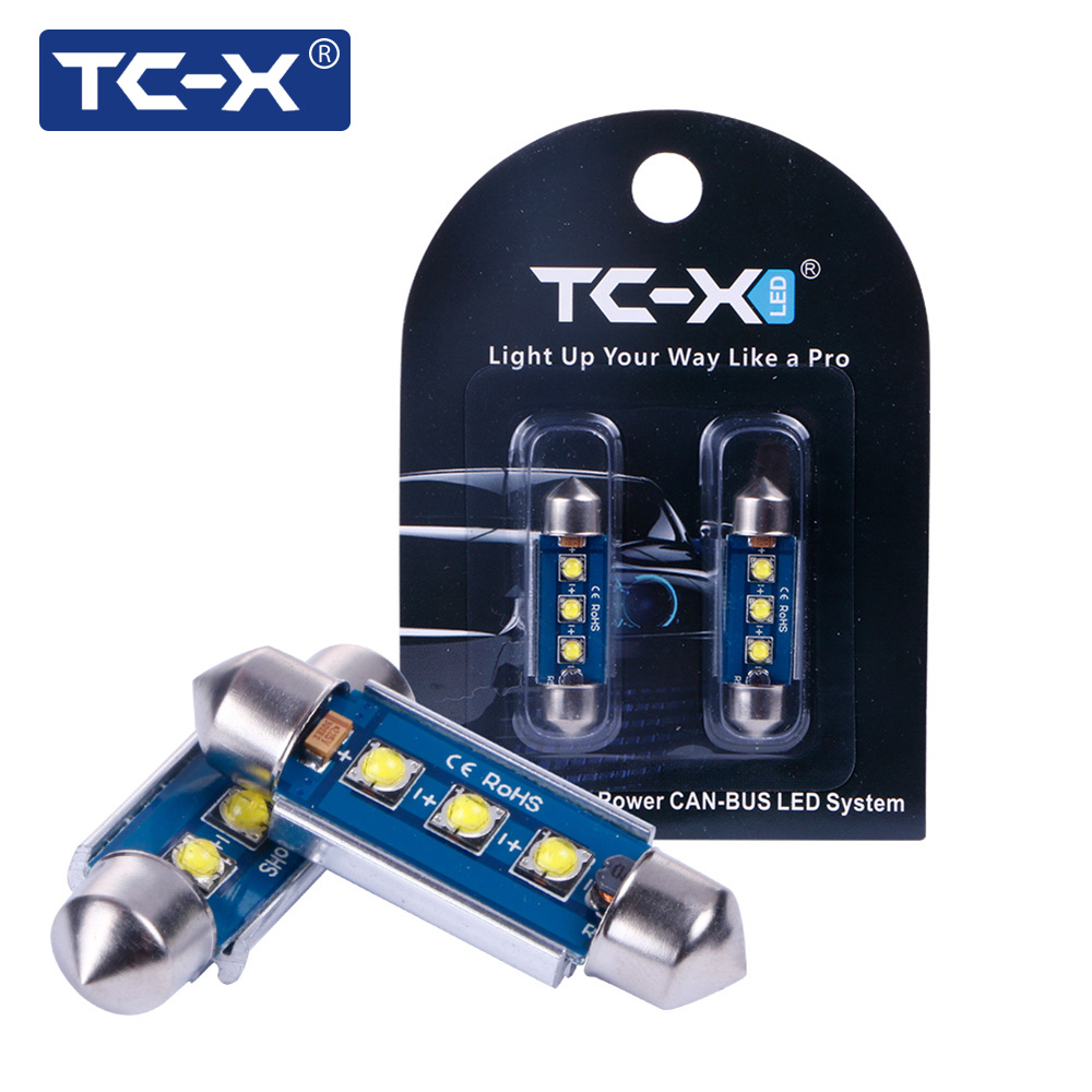 TC-X 1Pair Universal Led Car-styling Auto Festoon Canbus 31/36/39/42MM Epistar Led Chips 3535SMD 12V for Interior Reading Lights 2pcs 12v 31mm 36mm 39mm 41mm canbus led auto festoon light error free interior doom lamp car styling for volvo bmw audi benz