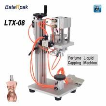 baterpak空気圧香水液体キャッピングマシン、香水液体アルミキャップシーラー、口腔/スプレーヘッドロックマシン LTX-08