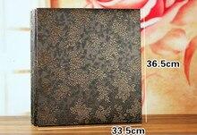 600 Pockets 6 Inch Interleaf Type Big High Capacity Photo Album PU Leather Photo Albums Handmade DIY Commemorative Family Flower