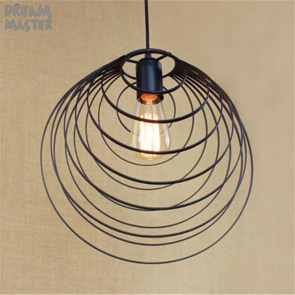 Suspension design scandinave Art industriel lampe décor salle à manger Den chevet Bar fer suspension italienne luz