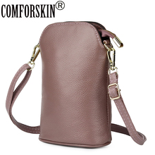 COMFORSKIN Luxurious Genuine Leather Women Mobile Phone Bags Guaranteed 100% Cowhide Preppy Style Messenger Bolsas Feminina
