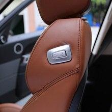 Автомобиль Интимные аксессуары ABS Chrome второй пилот сиденье отрегулировать Переключатель отделка для Land Rover Range Rover Sport HSE диапазоне 2014-2017 rover Vogue