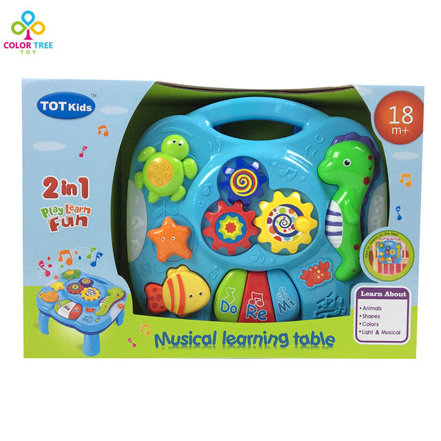 New Popular Musical Instrument Toys Baby Early Learning Toy Musical Baby  Learning Table Educational Play Learn
