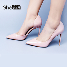 Купить с кэшбэком She ERA Top Quality Women High Heels Sexy Thin Heels Pumps Women Party Shoes Fashion Chaussure Femme Mariage Zapatos Mujer