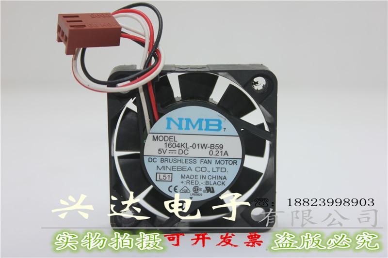Original 1604KL-01W-B59 5V 0.21A 40 * 40 * 10MM axial fan