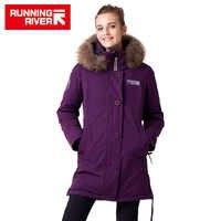 Correr río marca mujeres medio muslo invierno senderismo y Camping chaquetas 10 colores 5 tamaños con capucha deportes al aire libre abrigo # D7143H