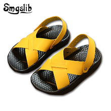 Smgslib Summer Gladiator Sandals Children Leather Flat Fashion Boys Girls Shoes Breathable Flats Kids