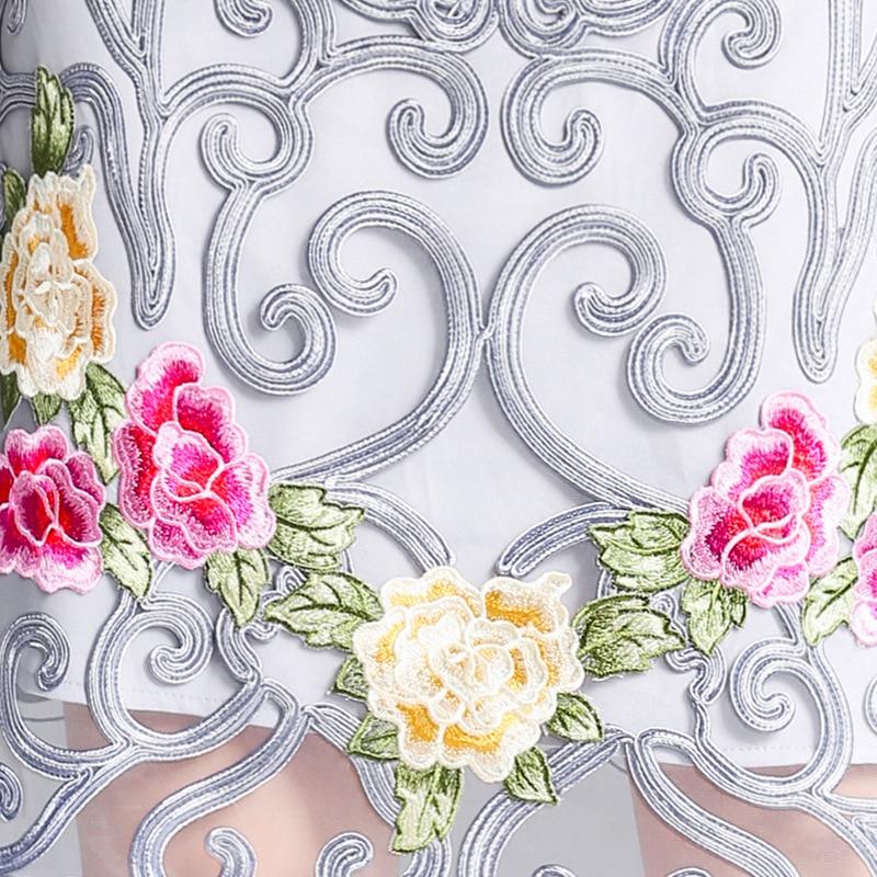 Moulante D'été Floral Manches Femmes Élégante De À Festa Gaine Apricot Exquis Robe Robes Partie Broderie gray 2018 Appliques Courtes Xxxl b7yYf6g