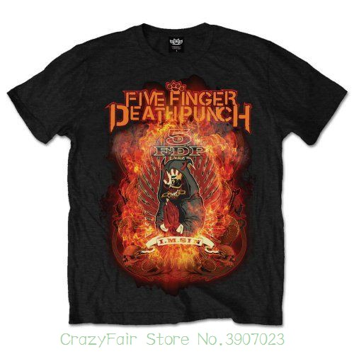 Five Finger Death Punch  Burn In Sin  T-shirt - Nuevo Y Oficial Funny Tops Tee Casual O Neck