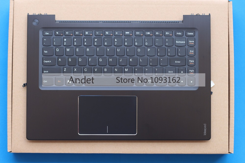 New Original Lenovo Ideapad U430 U430P US Keyboard + Palmrest Top Upper Case with Touchpad without with Backlit Black English laptop parts for lenovo yoga 2 13 yoga2 13 black palmrest with backlit sweden sw1 keyboard 90205189