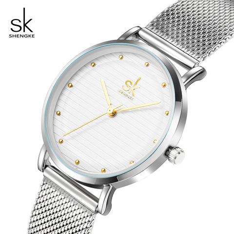 Shengke Luxury Quartz Women Watches Stainless Steel Ladies Wrist Watch Reloj Mujer 2019 SK Cheap Fashion Watches For Women Pakistan