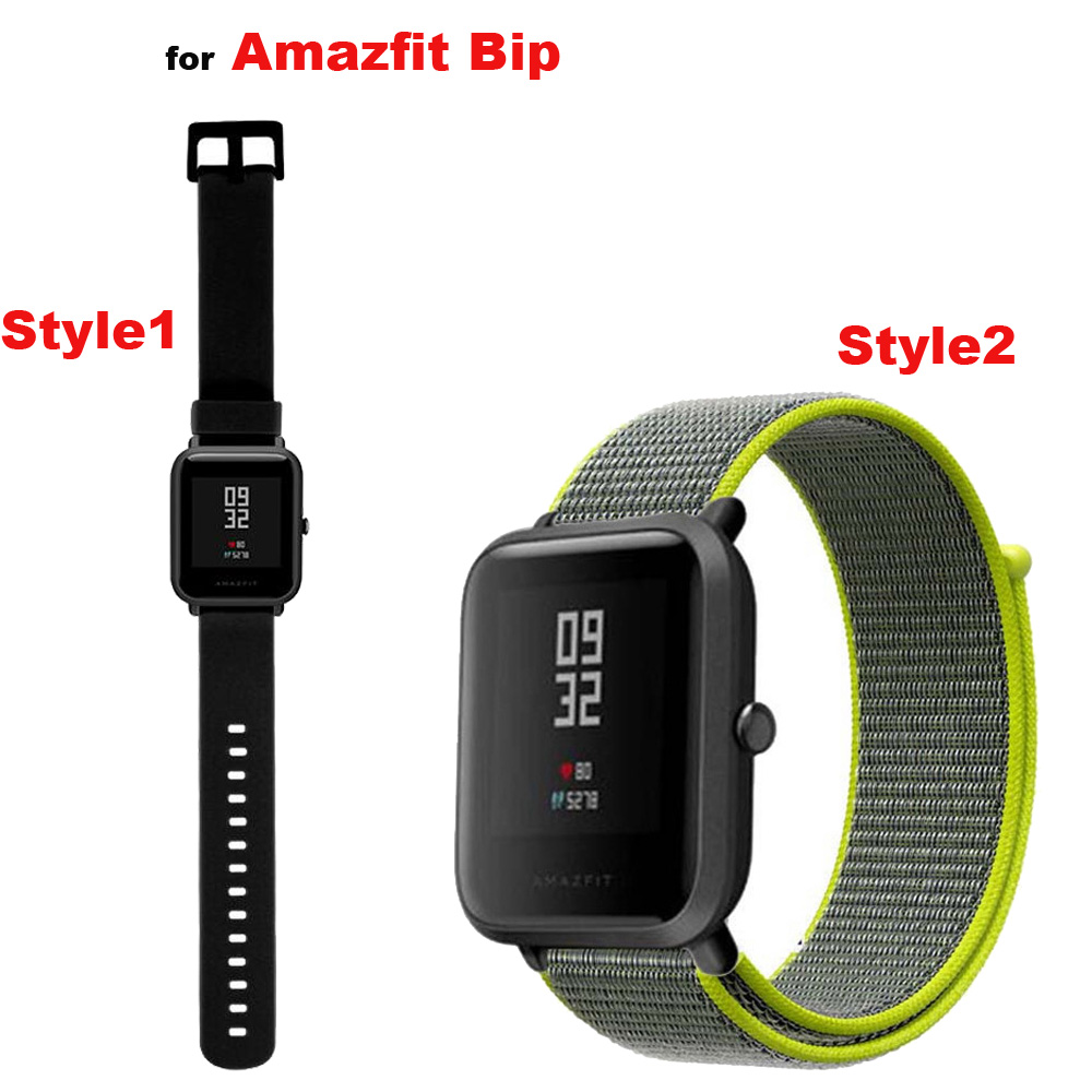Amazfit Bip Correa Watch Band 20mm for Original Xiaomi Huami Amazfit Bip Bracelet Silicone Wrist Strap Samsung Gear S4 S2 Nylon